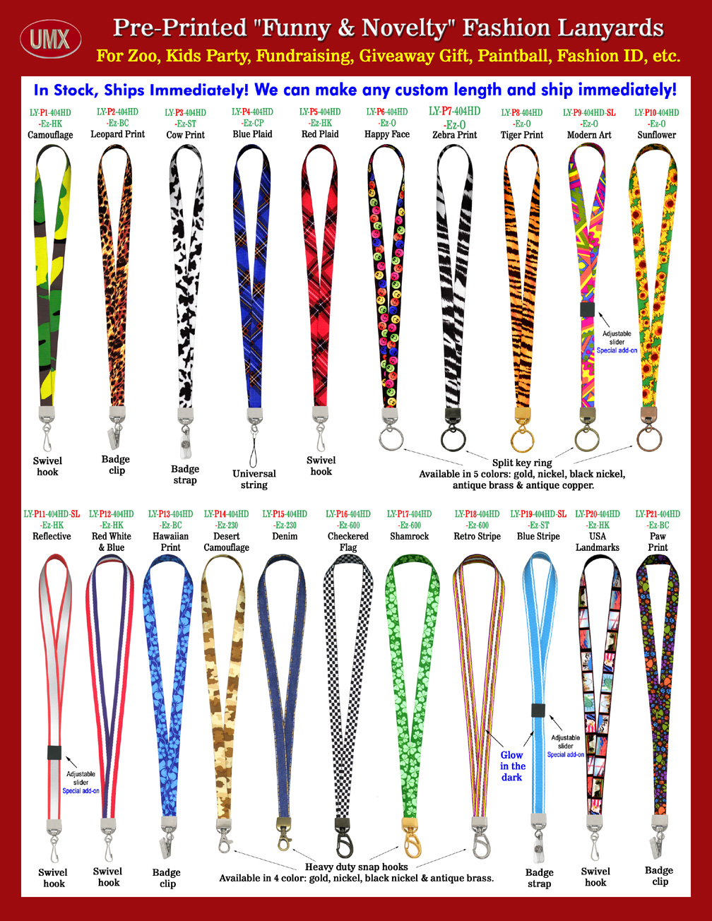 Novelty Gift Catalogs >> Funny and Novelty Lanyards For ID Name Badge Holders, Fundraising and Promotional Giveaway Gifts