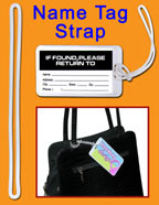 PlasticHandbag tag loop or plastic bag tag straps
