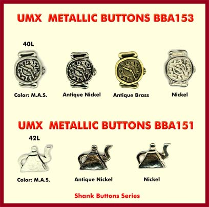 funny buttons. The tee pot uttons - metallic