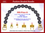 HH-P4xx-25 Stylish Engraved Wood Beads Handles For Fashion Purses, Wooden Cigarbox, Cigar Box Purse or Jewelry Box Handbag