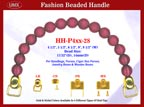 HH-P4xx-28 Stylish Cherry Wood Color Beaded Handle for Wooden Jewelry Box