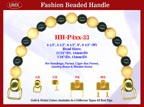 HH-P4xx-33 Stylish Beaded Purse Handle For Wooden Jewelry Box handbag, Wood Cigar Box Purses