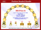 HH-P4xx-35 Stylish Wood Beads Purse Handle For Wood Jewelry Box handbag, Cigar Box Purse and Cigarbox
