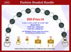 HH-P4xx-39 Stylish Wooded Beads Purse Handle For Wood Jewelry Box handbag,Cigar Box Purse and Wood Cigarbox