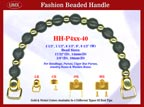 HH-P4xx-40 Stylish Beaded Wood Purse Handle For Wood Jewelry Box handbag, Cigar Box Purse and Cigarbox