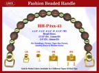 HH-P4xx-43 Stylish Beaded Wood Purse Handle For Handcrafted Jewelry Box handbag, Cigar Box Purse and Cigarbox