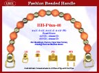 HH-P4xx-46 Stylish Beaded Wood Purse Handle For Handcrafted Jewelry Box handbag, Cigar Box Purse and Cigarbox