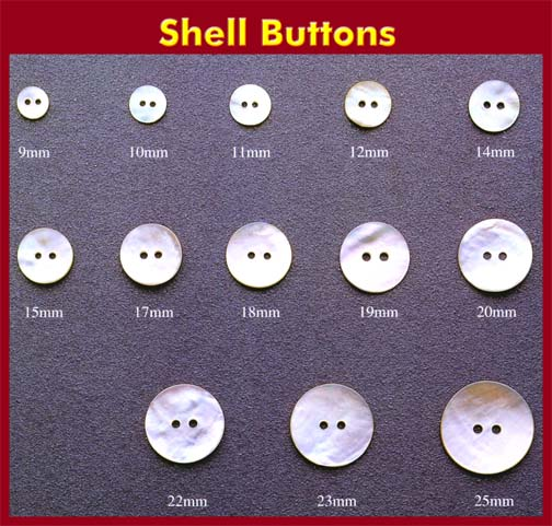 Shell Buttons - The Beauty of Great Mother Nature