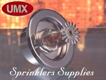 Fire Sprinkler System: Fire Sprinkler Two-Piece Rosette, Canopy, Escutcheon,