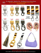 Strap Hook Catalog: Ez-Adjustable Handbag and Purse Strap Hooks: For Leather, Plastic and Fabric Straps.